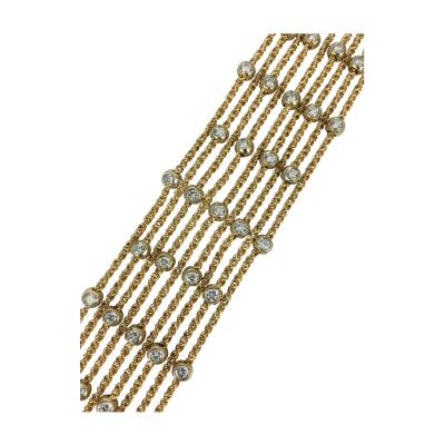 18k Gold and Diamond Bracelet