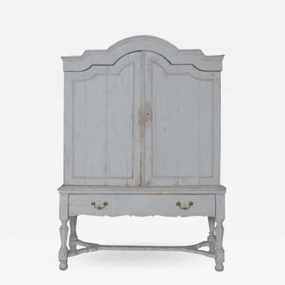 18th C Belgian Baroque Period Linen Press In Two Parts