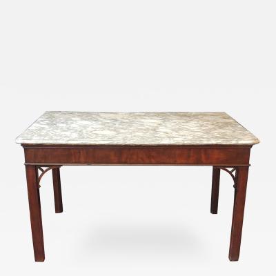 18th C English Chippendale Mahogany Slab Table
