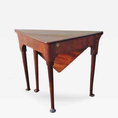 18th C English Queen Anne Mahogany Handkerchief Table