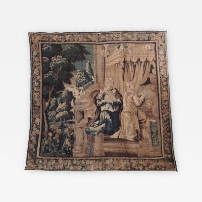 18th C Flemish Handwoven Tapestry