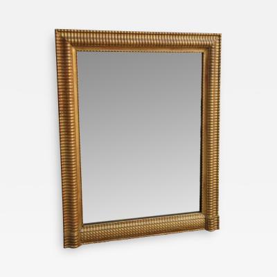 18th C French Louis XVI Pine Pier Mirror