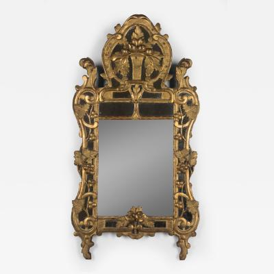 18th C French R gence Carved Giltwood Mirror