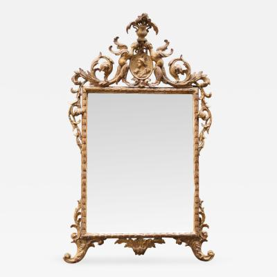 18th C Italian Venetian Rococo Giltwood Mirror with Chinoiserie Details