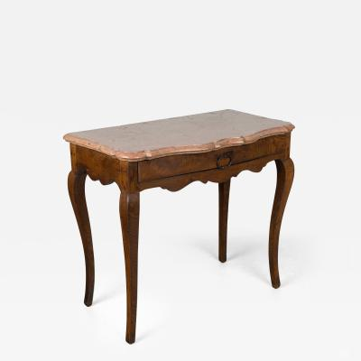 18th C Louis XV Marble Top Console Table