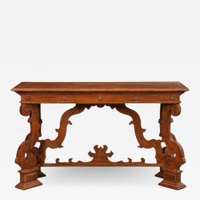 18th C Style Las Palmas Collection Spanish Colonial Italian Console Sofa Table