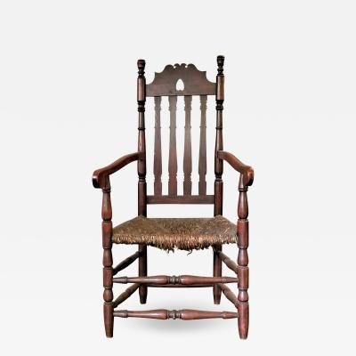 18th CENTURY HEART CROWN ARM CHAIR