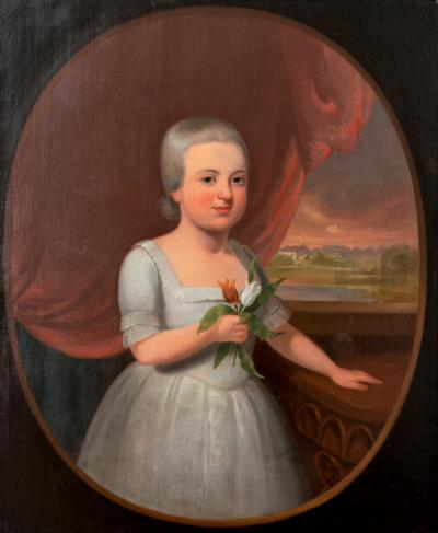 18th CENTURY PORTRAIT IN OILS ON CANVAS