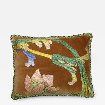 18th Century Antique Florentine Tapestry Pillow