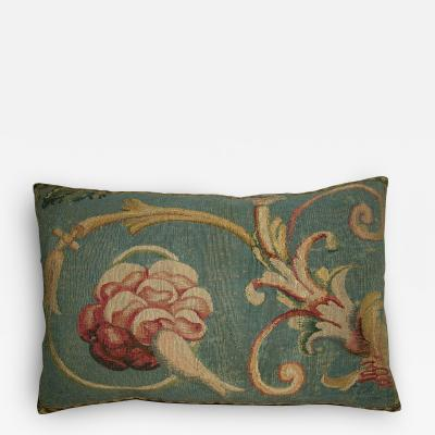 18th Century Antique French Aubusson Tapestry Pillow
