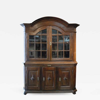 18th Century Baroque Dutch Display Cabinet