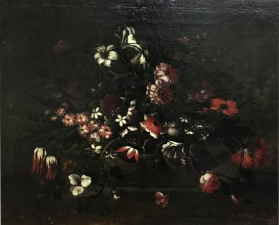 18th Century Botanical Oil On Canvas