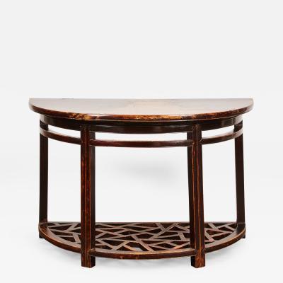 18th Century Chinese Half Round Table