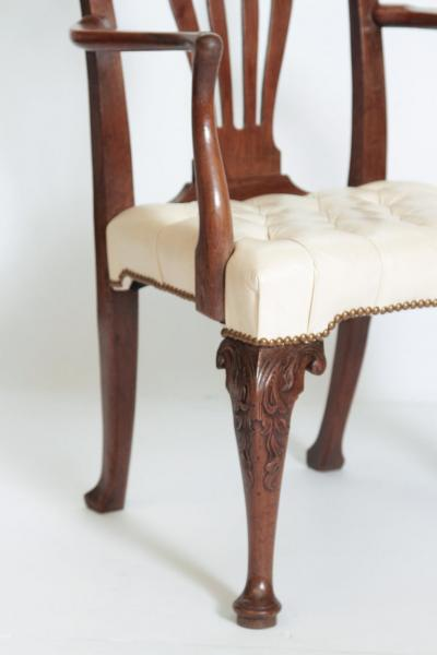 18th Century Chippendale Mahogany Armchair