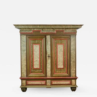 18th Century Danish Baroque Two Door Cabinet