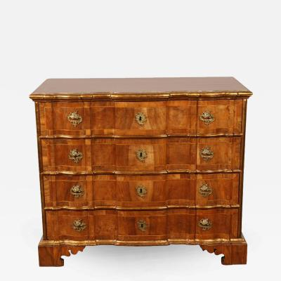 18th Century Danish Rococo Chest of Drawers with Key