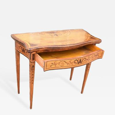 18th Century Dutch Neoclassical Inlaid Game Table