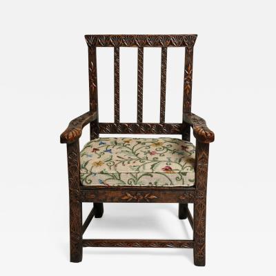 18th Century English Folk Art Chair