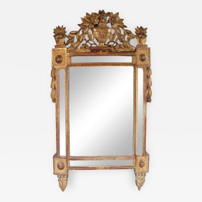 18th Century French Louis XVI Period Richly Carved Giltwood Mirror