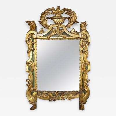 18th Century French Period Louis XVI Giltwood Mirror with Original Mirror Plate