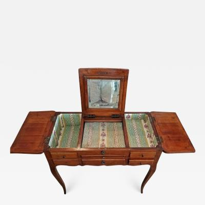 18th Century French Provincial Cherrywood Poudreuse