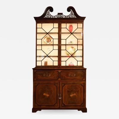 18th Century George III Secretary Bookcase