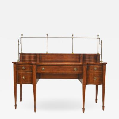 18th Century Georgian Mahogany Sideboard with Brass Gallery Rail