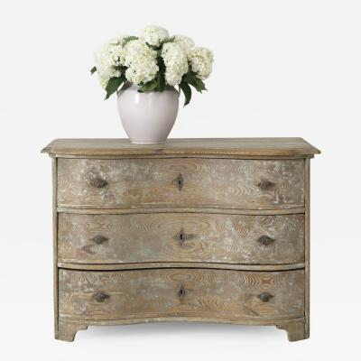 18th Century German Baroque Period Serpentine Front Commode In Original Patina
