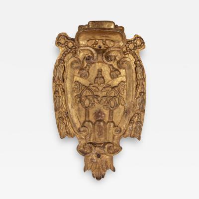 18th Century Gilded Bishops Crest