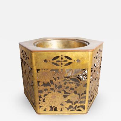 18th Century Gilded Bronze Hibachi