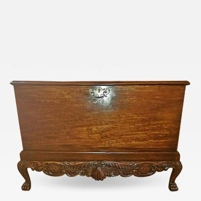 18th Century Irish George II Mahogany Silver Chest
