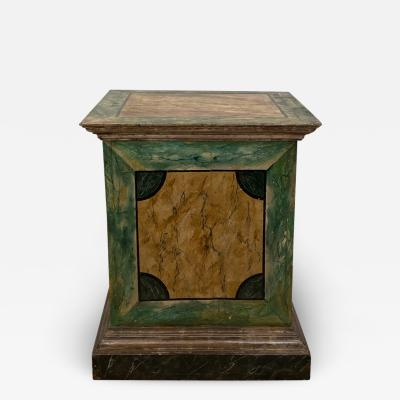 18th Century Italian Faux Painted Pedestals A Pair