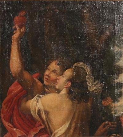18th Century Italian Florentine School Figural Oil Painting