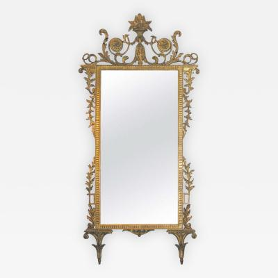 18th Century Italian Neoclassical Giltwood Mirror
