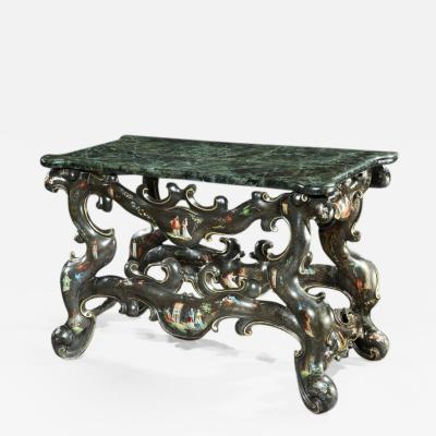 18th Century Italian Venice Polycromatic Painted Decorated Console Table