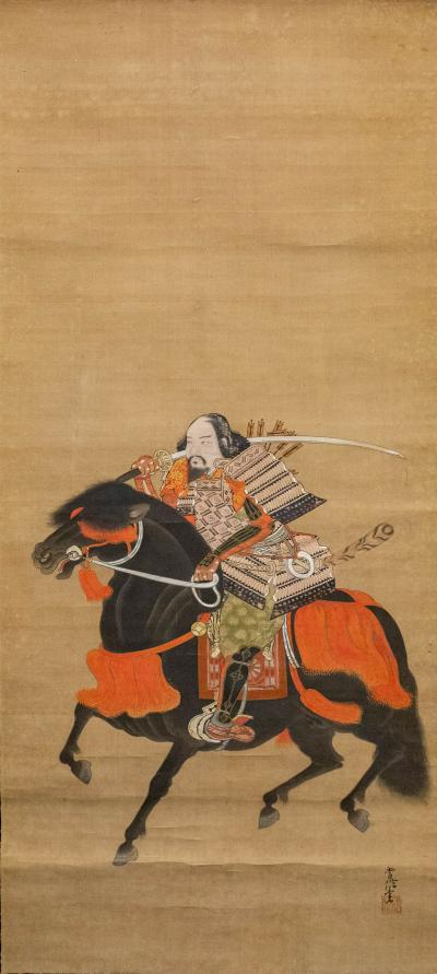 18th Century Japanese Scroll of Ashikaga Takauji