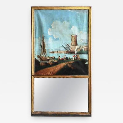 18th Century Louis XVI Trumeau La Rochelle