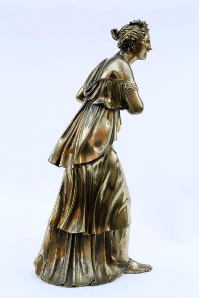 18th Century Neoclassical Bronze Dor Sculpture of a Woman