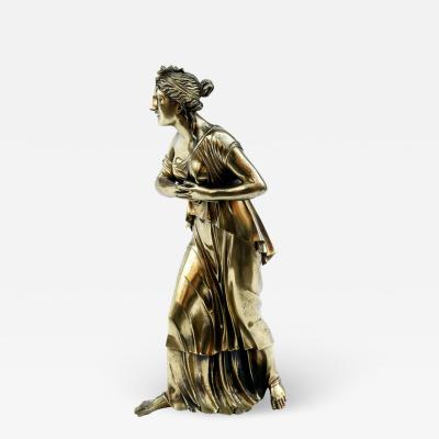 18th Century Neoclassical Bronze Dor Sculpture of a Woman