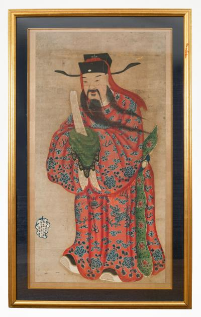 18th Century Painting of a Chinese Lohan