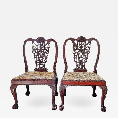 18th Century Pair of Large Chippendale Style Ribbonback Chairs
