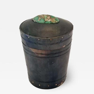 18th Century Scottish Horn and Polished Stone Tea Caddy