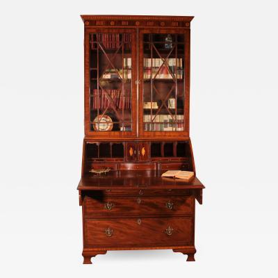 18th Century Secretaire Bureau In Mahogany england