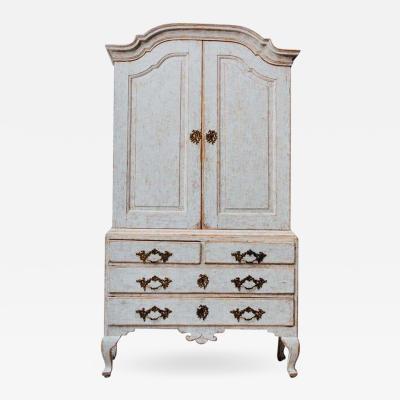 18th Century Swedish Rococo Period Linen Press Cabinet