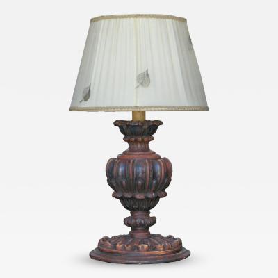 18th Century Urn Table Lamp
