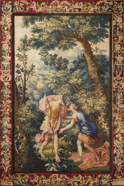 18th Century antique tapestry from Brussels Diana and Endymion