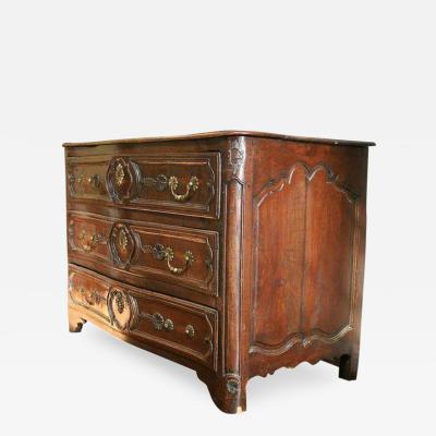 18th c Louis XV Walnut Commode