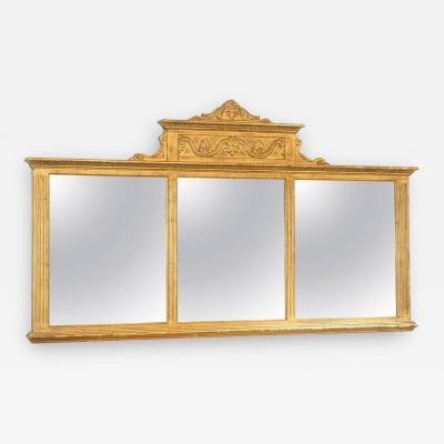 18th c Neoclassical Overmantel Mirror