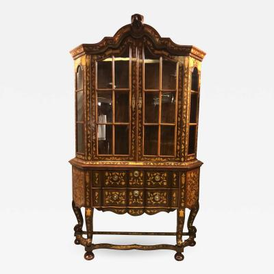 18th century Baroque Cabinet with Vitrine