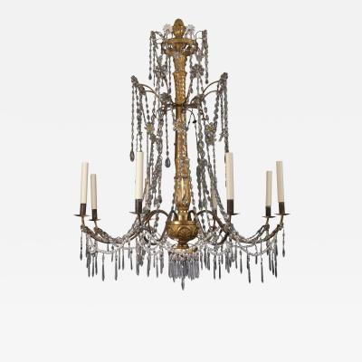 18th century Italian eight light chandelier